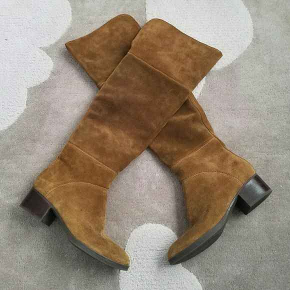 47a2066e412bd0 Tommy Hilfiger Gianna suede over the knee boots